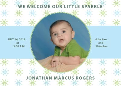Sparkle Birth Announcement